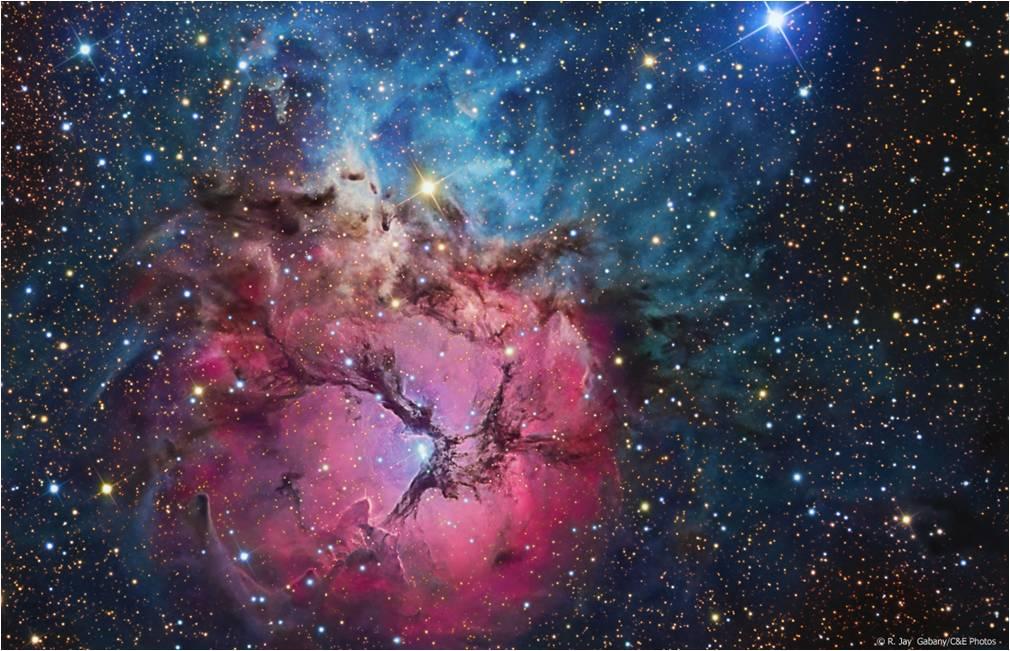 La nébuleuse Trifide dans la constellation du Sagittaire. Crédit : R. Jay Gabany/Ciel et Espace Photos