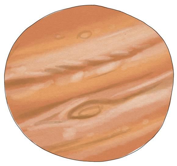 La planète Jupiter, vue par Léely, illustratrice