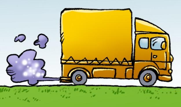 Effet de serre A camion