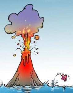 Effet de serre A volcan