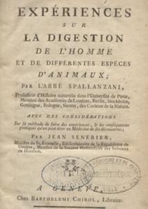 expériences digestion spallanzani